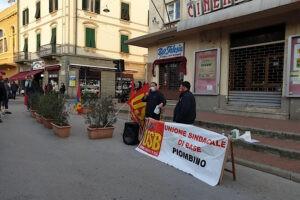 Sabato 10 ottobre si è svolto il presidio in piazza Cappelletti a Piombino proposto da USB