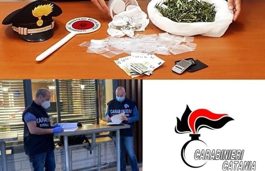 Biancavilla, tra un caffè e una brioche piazzava le dosi di marijuana, arrestato titolare di un bar
