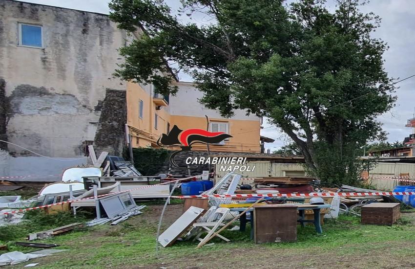 Boscoreale, carabinieri sequestrano una discarica abusiva in prossimità del Parco Nazionale del Vesuvio