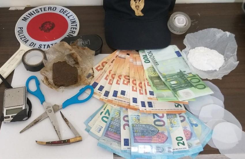 15 grammi di cocaina e 15 di hashish: in manette pusher di Cassino