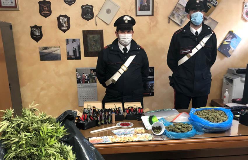 Dolo, i Carabinieri arrestano due pregiudicati per coltivazione detenzione e spaccio di stupefacente e per la detenzione illecita di petardi