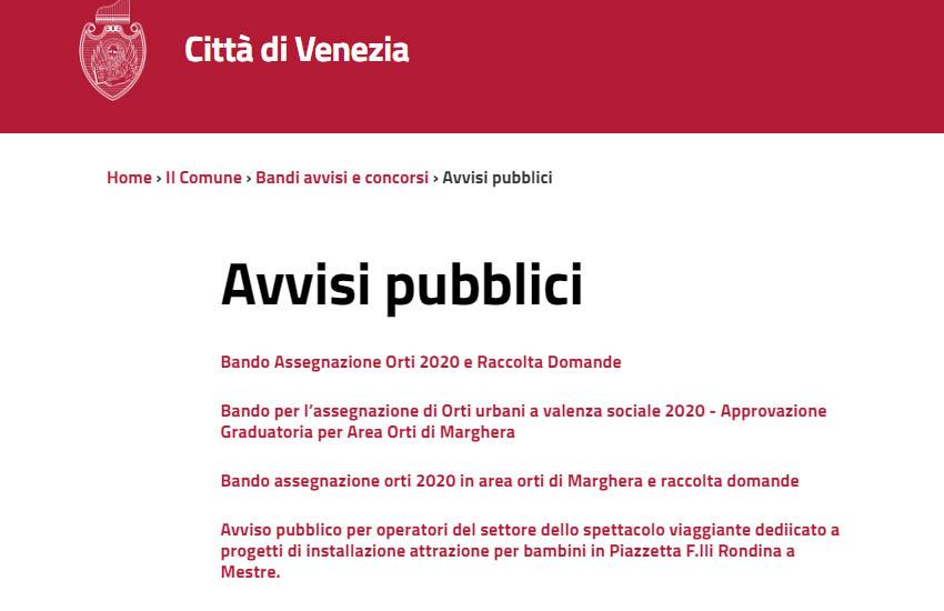 Venezia, bando 2020 per l'assegnazione degli orti urbani liberi: dal 19 ottobre il via alle domande