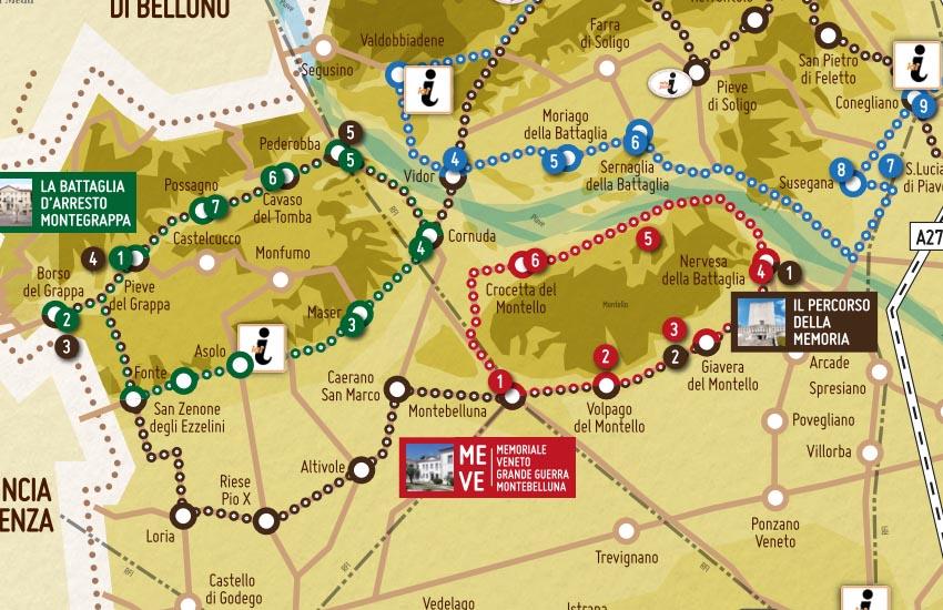 """Montebelluna, presentata in anteprima la Mappa """"Itinerari della Grande Guerra nella Marca Trevigiana"""""""