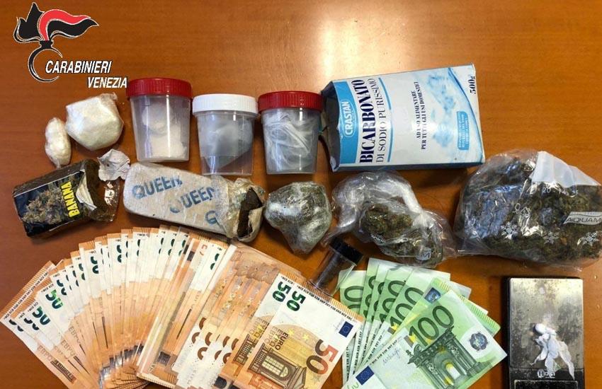 Marghera, deteneva e spacciava varie sostanze stupefacenti: veneziano arrestato dai Carabinieri