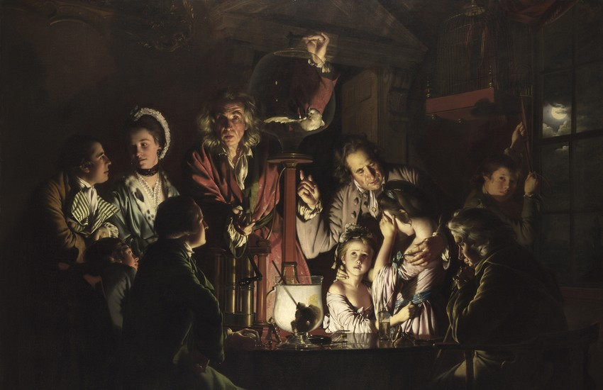 "Uffizi, per la prima volta in Italia  ""Esperimento di Joseph Wright of Derby"" dalla National Gallery di Londra"