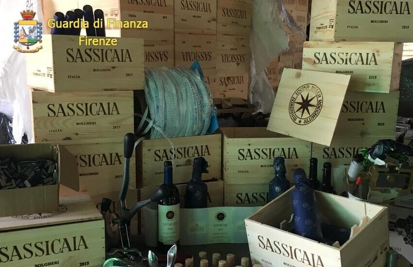 Falso Sassicaia, 2 arresti e 11 indagati, GDF sgomina traffico internazionale.