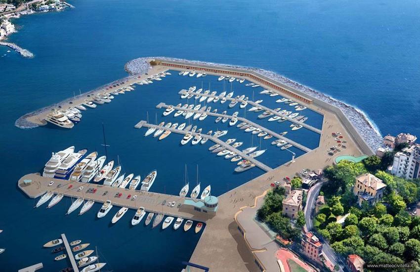 Rapallo, prima firma del Comune per la ricostruzione della diga del porto Carlo Riva