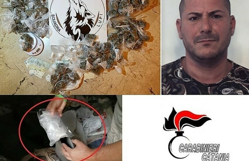 San Cristoforo, sequestro di  cocaina e marjuana, manette per un sorvegliato speciale
