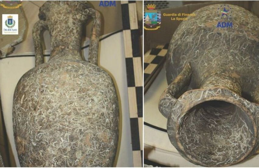 La Spezia, ritrovate e sequestrate due anfore antiche