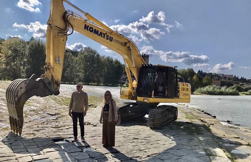 Percorribile nuovo tratto dell'Arno nella zona della Zecca Vecchia. Lavori per 45mila euro