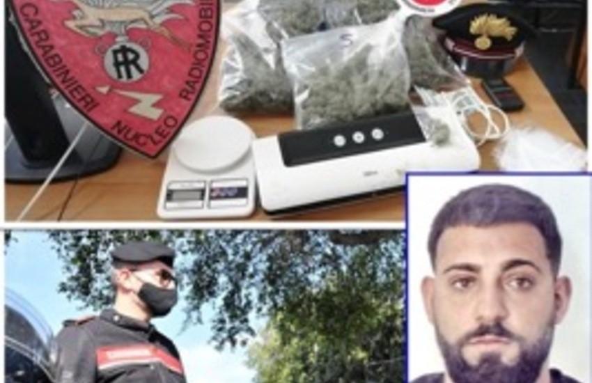 Catania, San Leone: preso pusher, in camera da letto    aveva 1,3 Kg di marijuana