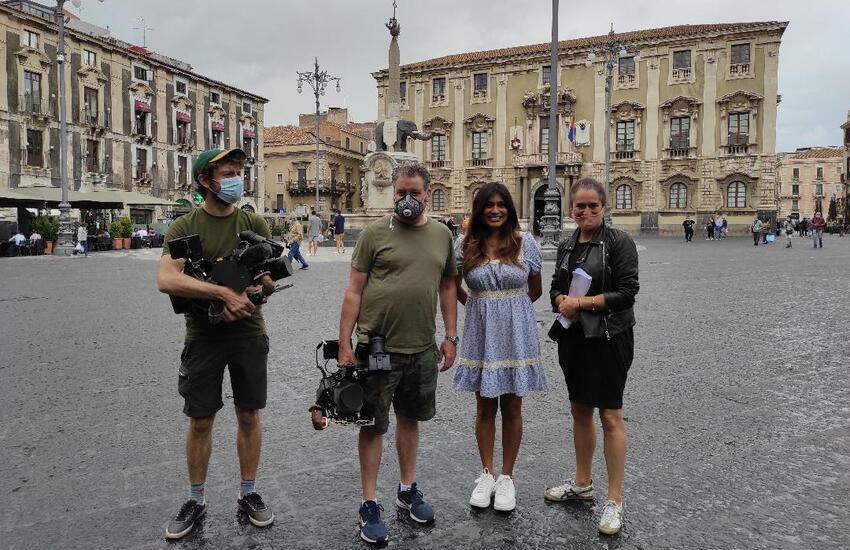 """Catania protagonista nel programma della tv britannica Channel 4, in una puntata di """"A Taste of Italy"""""""