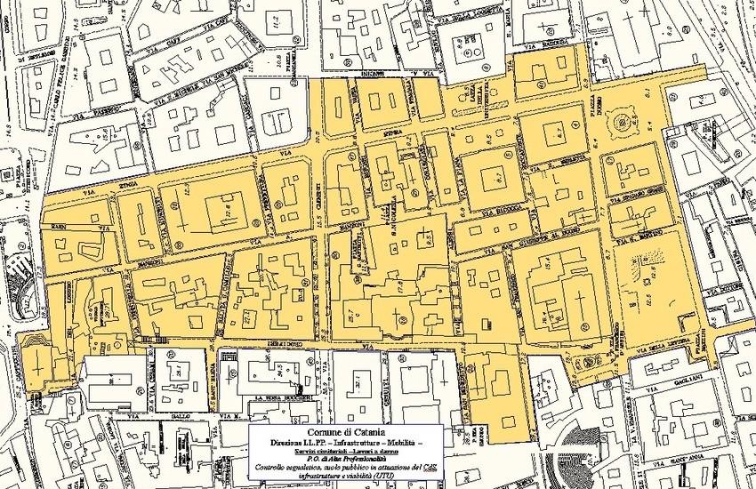 Catania, domeniche di ottobre senza auto nel centro storico. Ecco la mappa
