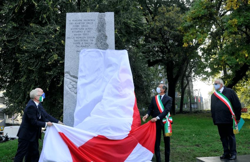 Milano, inaugurato il Monumento in ricordo dei martiri delle foibe – Foto gallery