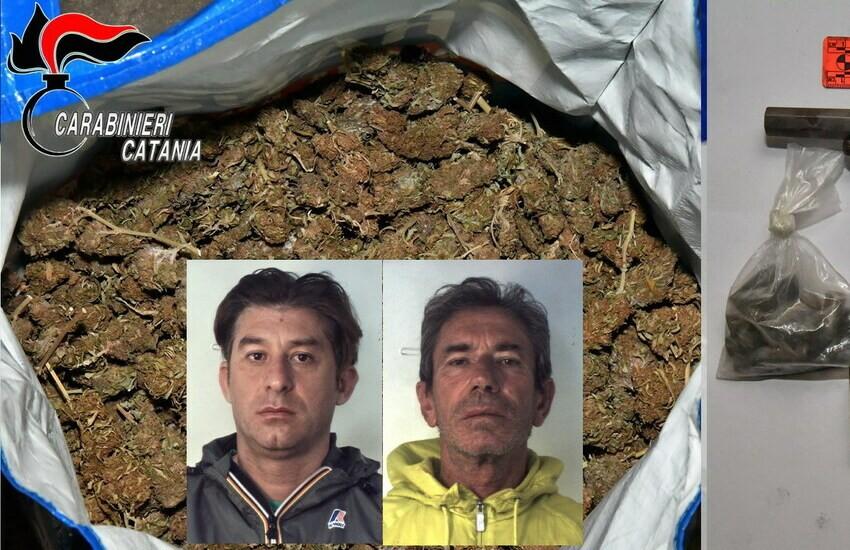 Picanello, arrestati due pregiudicati. Trovata droga e un revolver