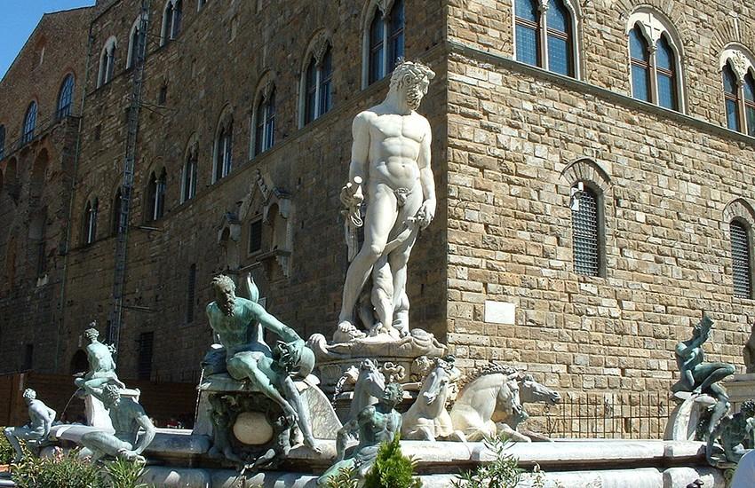 Restauro della Fontana del Nettuno finanziato con il progetto Art Bonus