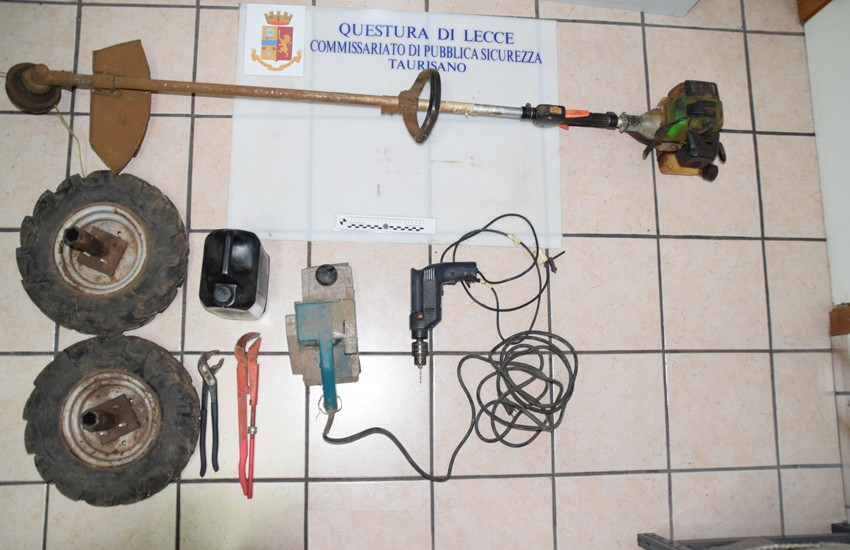 Rubano attrezzature agricole ad un 81enne, in due denunciati per furto