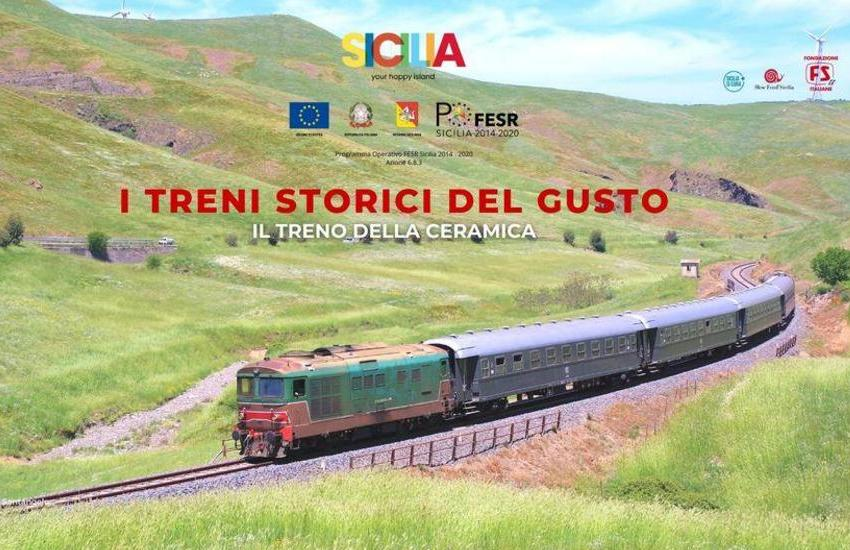 """Caltagirone, domenica 18 ottobre, in carrozza sui """"Treni storici del gusto Sicilia 2020"""". Ecco il programma"""