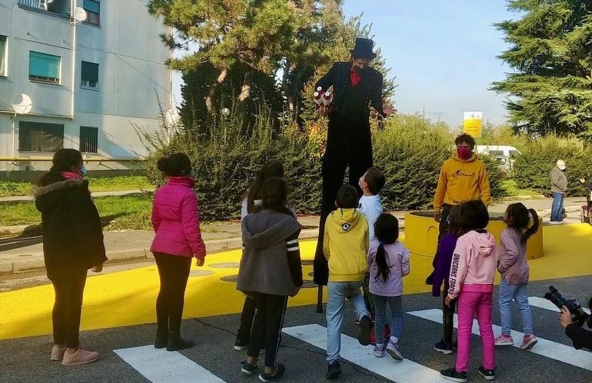 Via Quarti, la strada colorata come la vogliono i bambini. Vedi il progetto