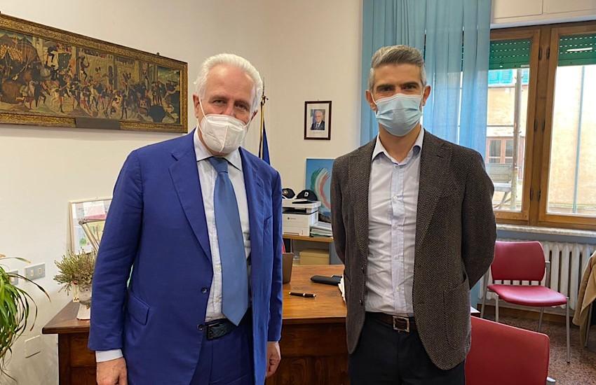 Il Presidente Giani ricevuto in Comune dal sindaco Ferrari