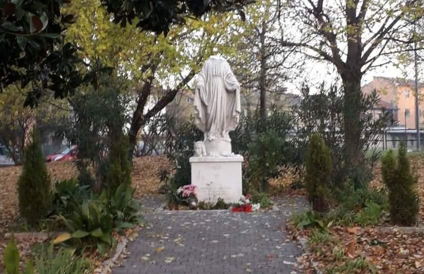 Marghera, atto vandalico  contro la statua della Madonna