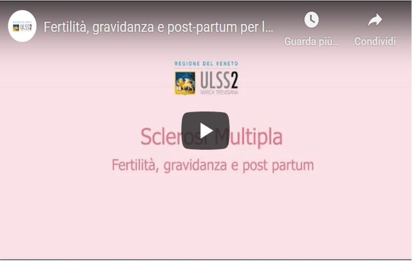 ULSS 2, UN VIDEO PER L'(H)-OPEN DAY SCLEROSI MULTIPLA