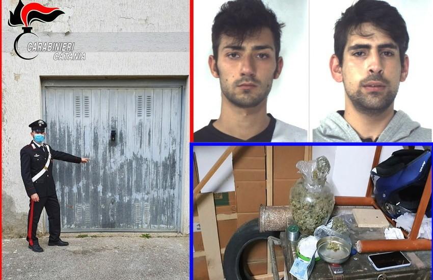 Caltagirone, scoperto garage-laboratorio dove si confezionava la droga da piazzare al dettaglio, due i pusher in manette