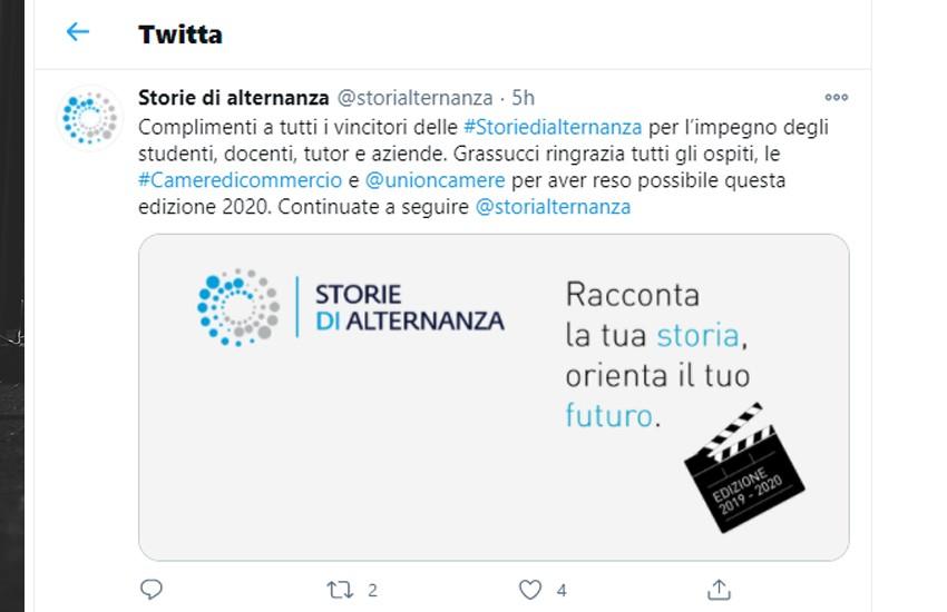 """""""Stay at home"""" il video del Lice Giannone sul podio di """"Storie di alternanza"""""""
