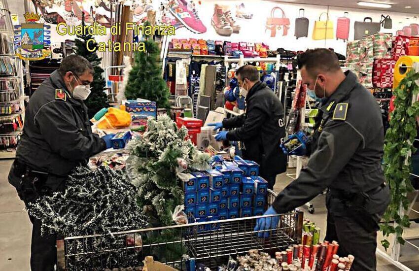 Belpasso, la Finanza sequestra 2400 articoli contraffatti in un negozio