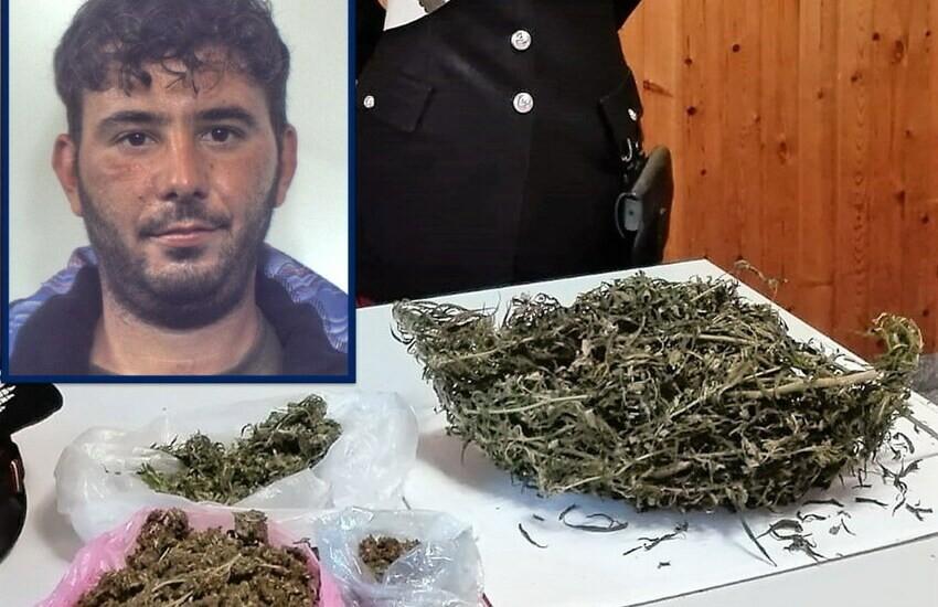 Belpasso, utilizzava un casolare abbandonato e la carcassa di un'auto per nascondere la droga