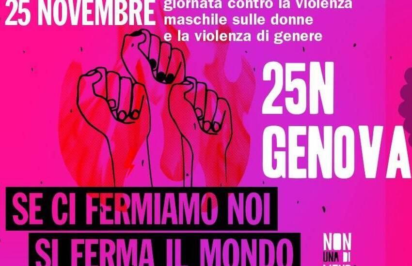 Genova, Non Una Di Meno manifesta davanti al Palazzo della Salute nella giornata contro la violenza sulle donne
