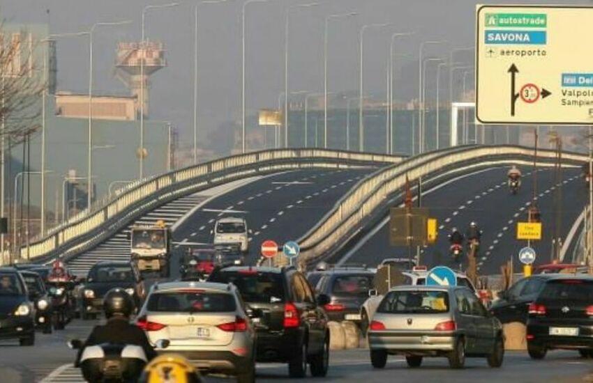 Genova, è ufficiale: a inizio dicembre scatta il tutor sulla strada Guido Rossa con limite di velocità a 70 km/h