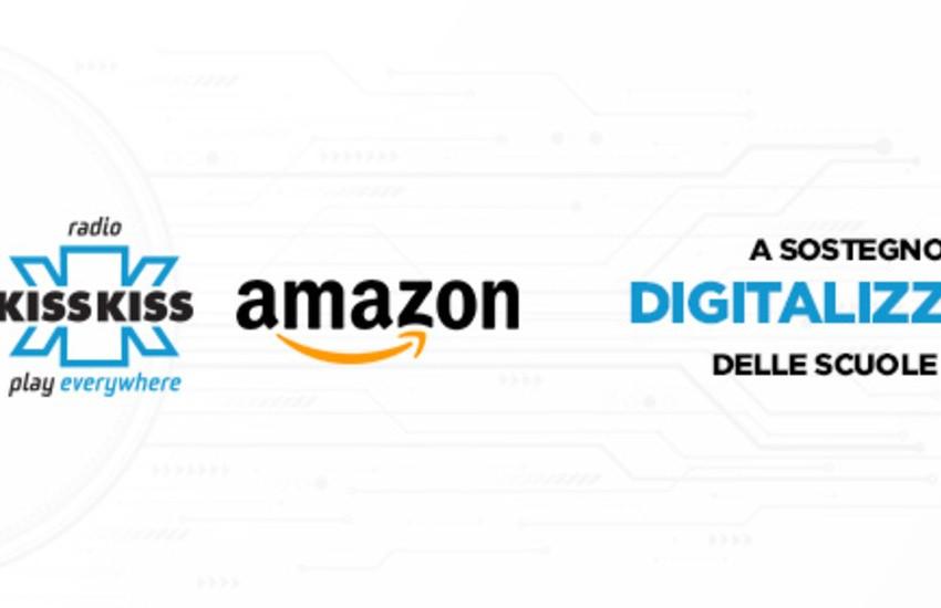 Amazon e Kiss Kiss donano computer alla scuole medie Alessandro Volta di Genova Cornigliano