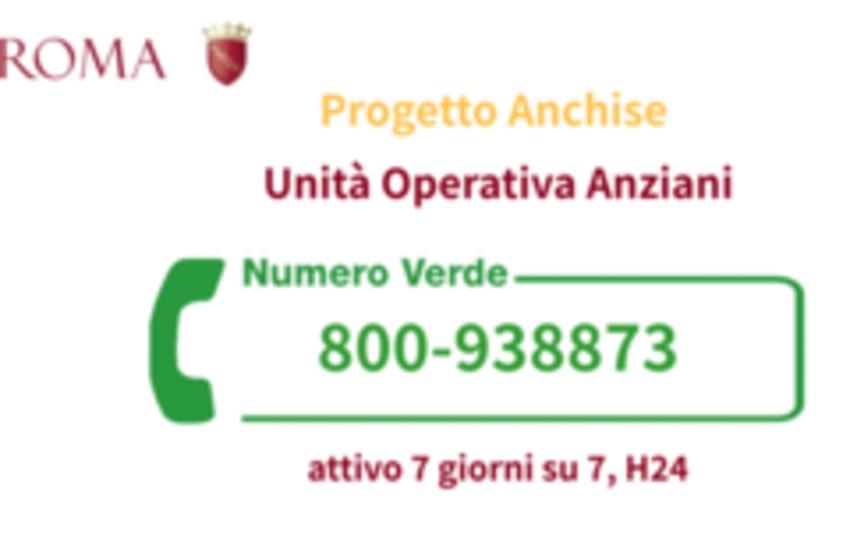 Covid, Campidoglio, Progetto Anchise sempre attivo al Numero Verde