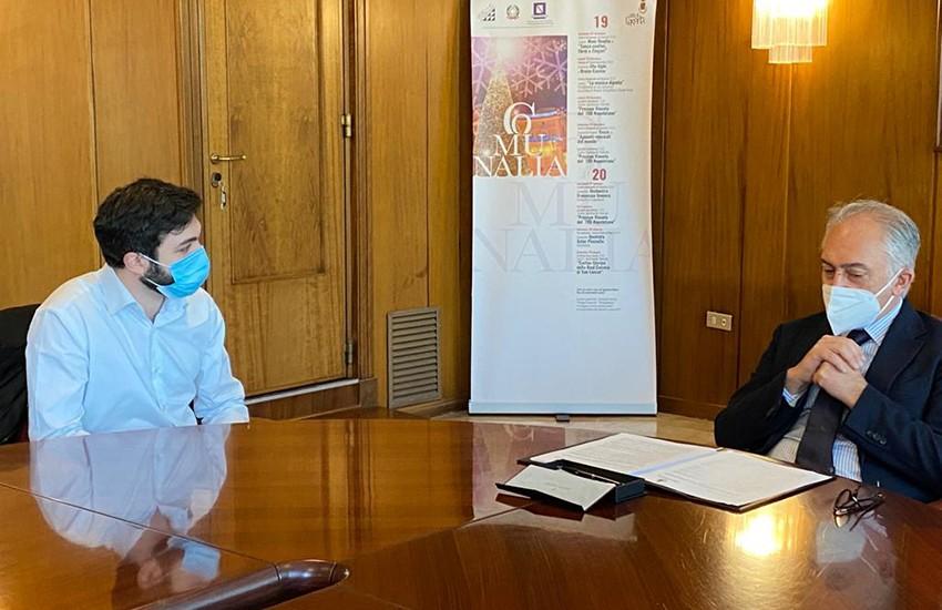 """Un patto di collaborazione in Comune la tutela della Biblioteca """"Alfonso Ruggiero"""""""