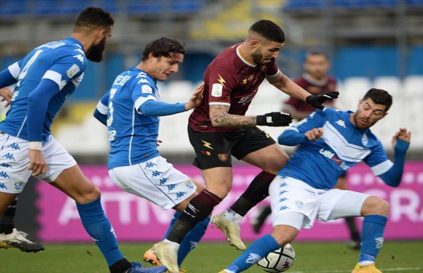 Brescia-Salernitana 3-1, i granata soffrono di vertigini