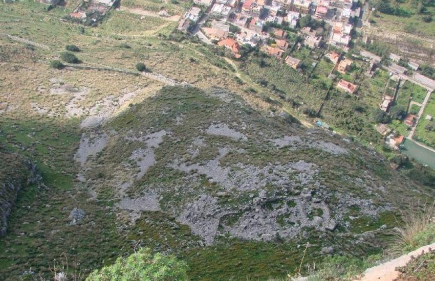Dissesto idrogeologico, si consolida il versante nord-ovest della montagna Raffo Rosso di Capaci