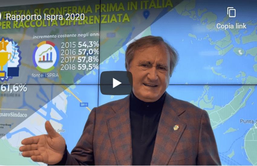 Rapporto 2020 di ISPRA:  Venezia ai vertici delle classifiche