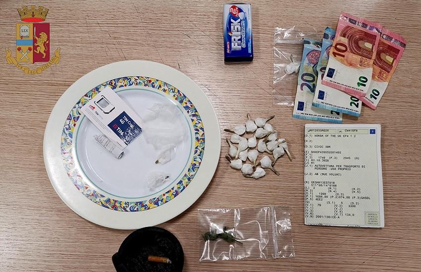 Polizia di Stato, dosi di cocaina pronte per la vendita: arrestati due pregiudicati