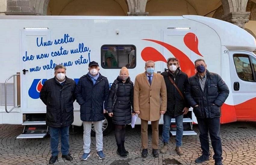 """Autoemoteca Avis in piazza del Plebiscito, Merli: """"Raccolte 17 sacche di sangue"""""""