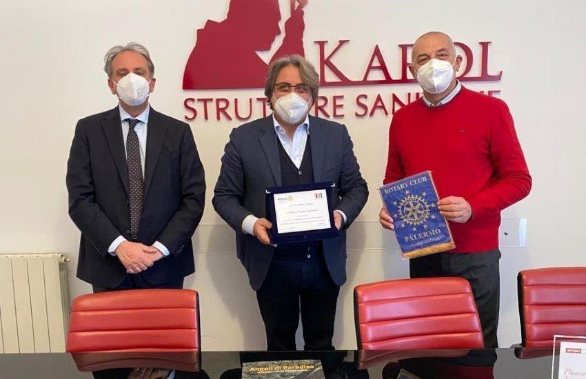 Rotary Palermo premia la Karol per lo screening gratuito ai senza fissa dimora