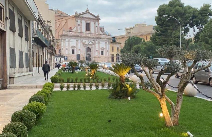 Palazzo Orleans: completati i lavori dell'area a verde