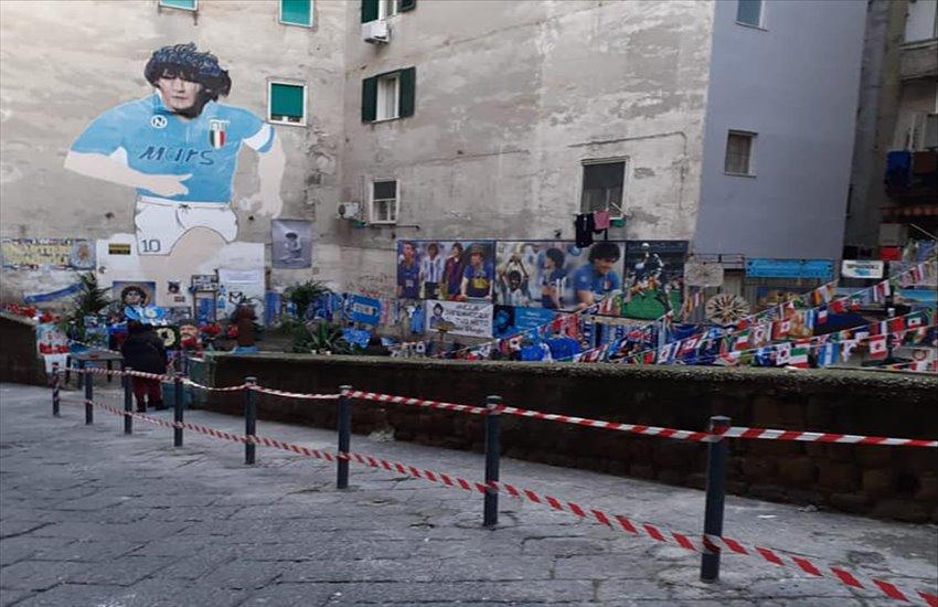 Piazzetta Maradona ai Quartieri Spagnoli, nasce un nuovo spazio dedicato a Diego nel cuore di Napoli