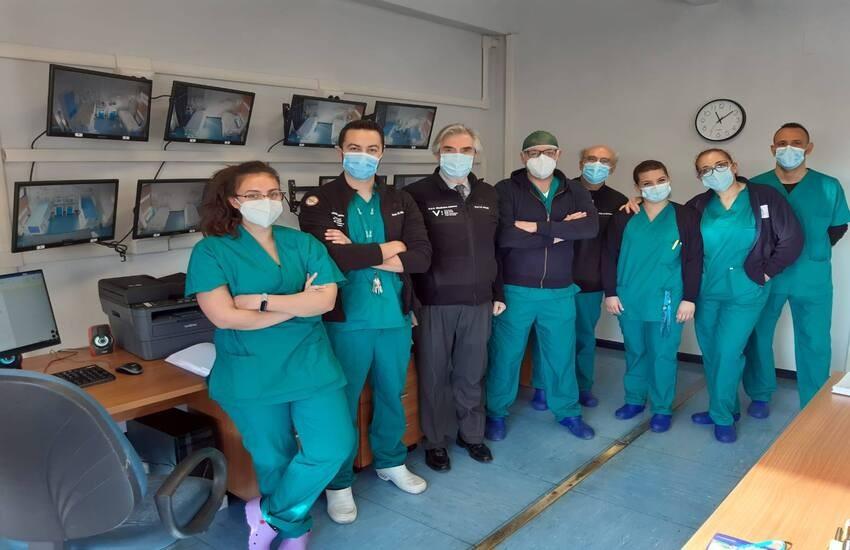 Policlinico Luigi Vanvitelli, edificio 17 di via Pansini riconvertito per incrementare i posti letto dedicati ai pazienti Covid