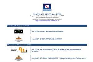 """Parte """"Campania Cultura Viva"""", il programma culturale digitale della Regione per Natale"""