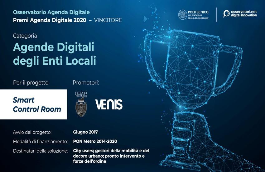 A Venezia il premio Agenda digitale 2020