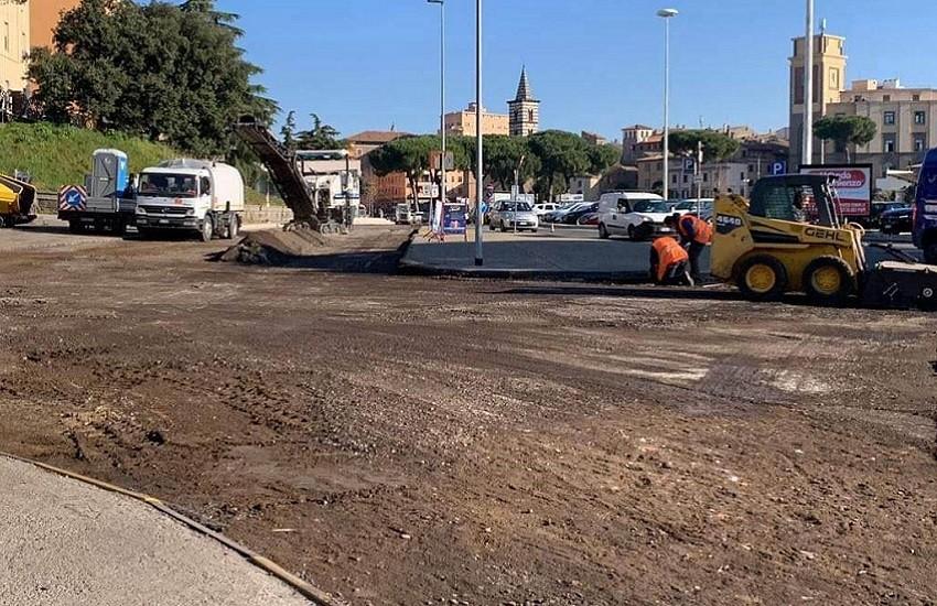 Piazza Martiri D'Ungheria: lavori in corso