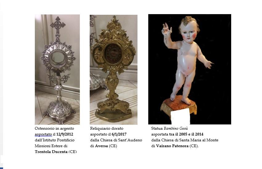 """Four Four"": tornano nelle chiese di Aversa numerosi beni trafugati da 4 ladri"