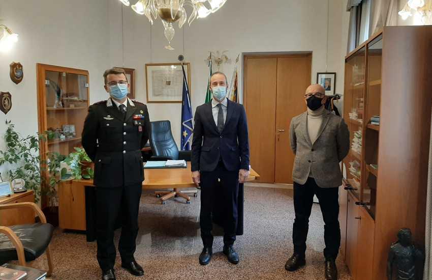 Chioggia, il colonnello De Luchi in Municipio