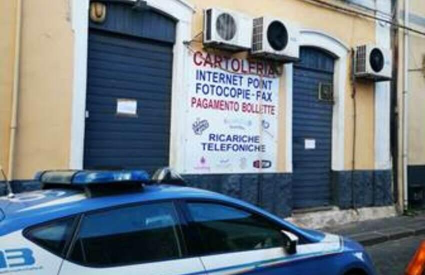 San Cristoforo, cartoleria di via Juvara trasformata in sala scommesse abusiva. Denuncia e sequestro